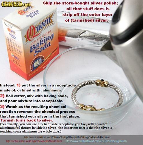 Home made jewelry cleaner trusper for How to clean jewelry with baking soda