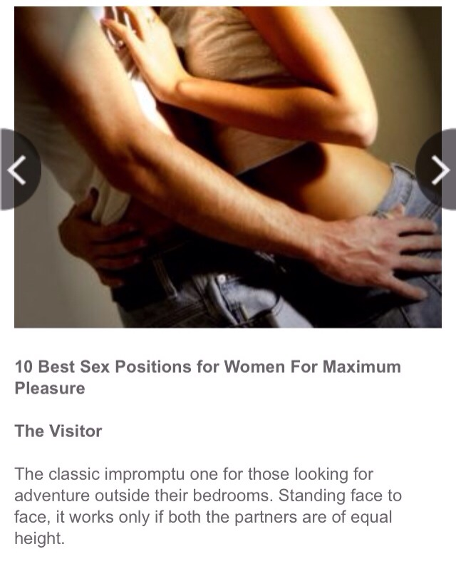 best sex position for female satisfaction