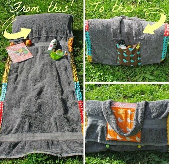 Beach Day Towel Pillow Bag All In One  ♡