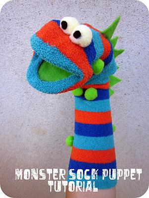 how to make a sock puppet step by step