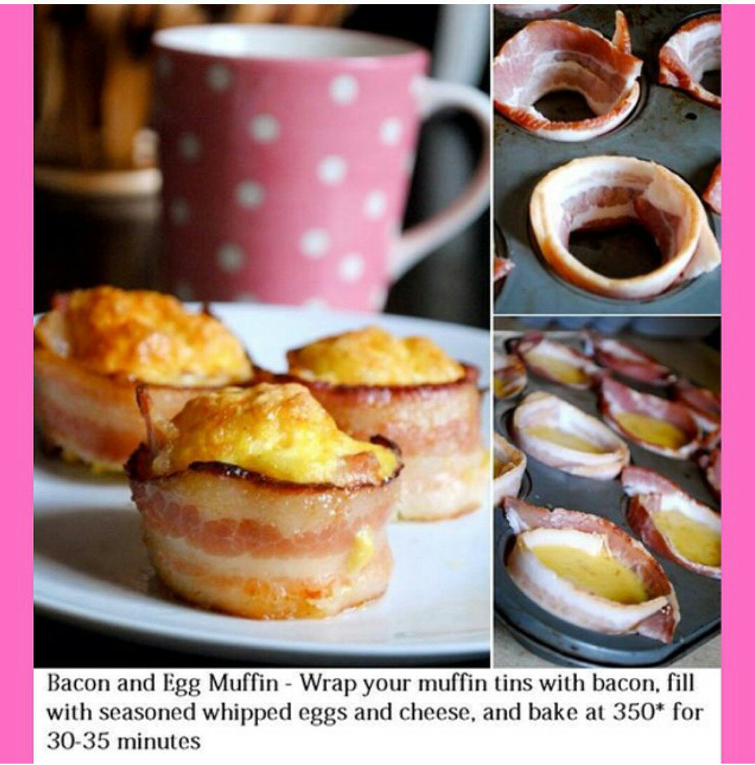Bacon And Cheese Egg McMuffin Cups Recipes — Dishmaps