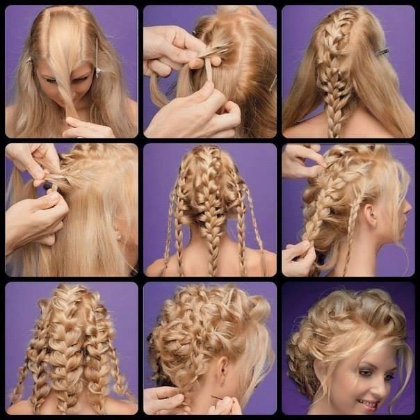 Прически для девочек на длинные волосы пошаговая инструкция фото