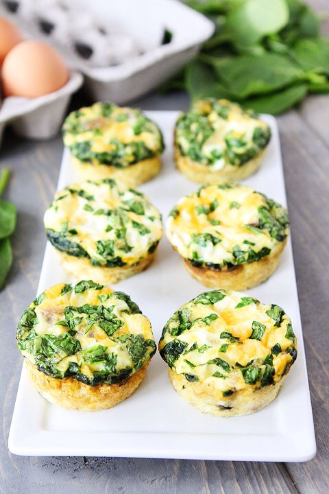 Egg muffin • Egg• Spinach• Mushroom• Cheese