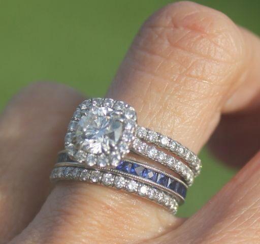 Wedding Ring With Husbands Birthstone