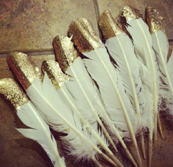 DIY Glitter Feathers Decorations!