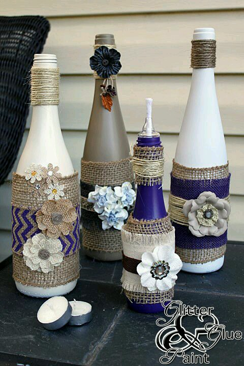 Wine bottle decorating ideas for Empty bottle decoration ideas