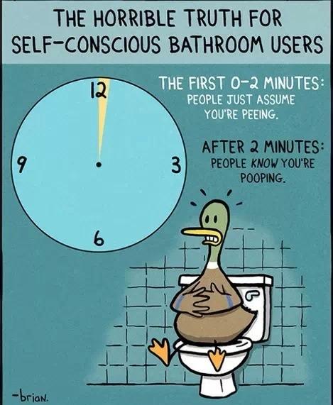 Nervous Bathroom Users Beware!!!!!💕💕💕💕!