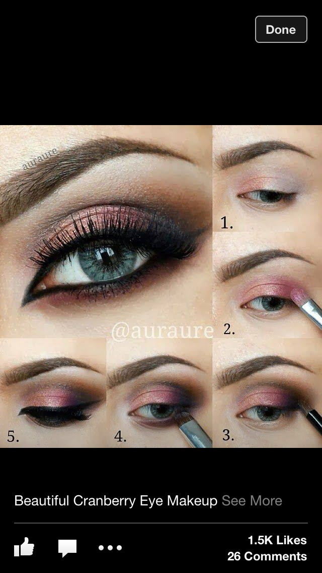 Cranberry Eyeshadow: Cranberry Eye Look