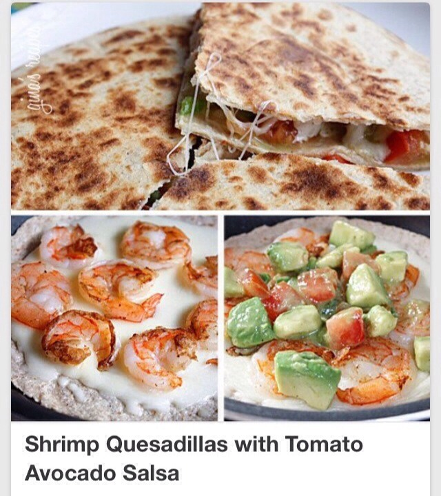 ✨ The Best Shrimp Quesadillas With Tomato Avocado Salsa✨😋👌