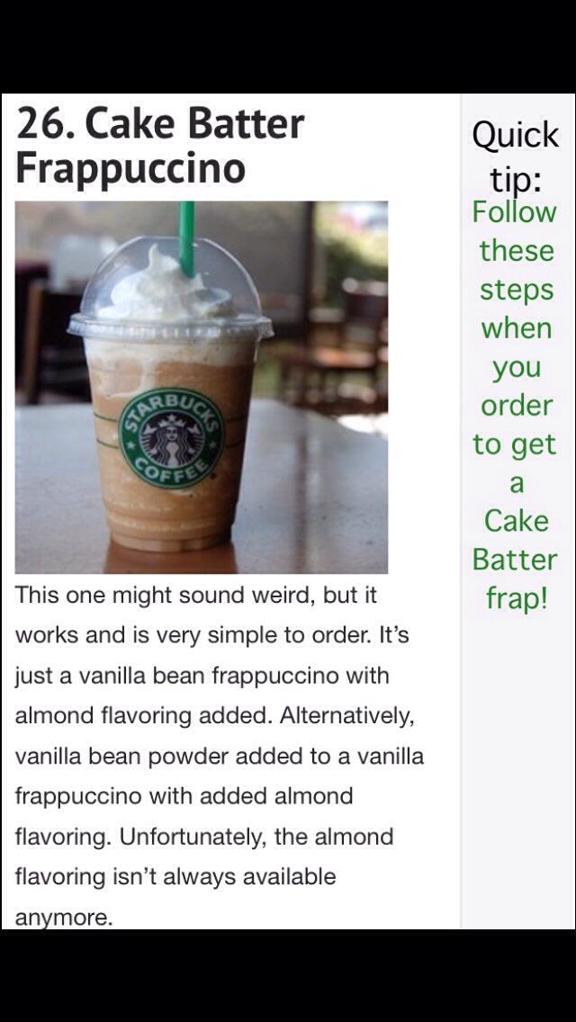 Starbucks Cake Batter Frap