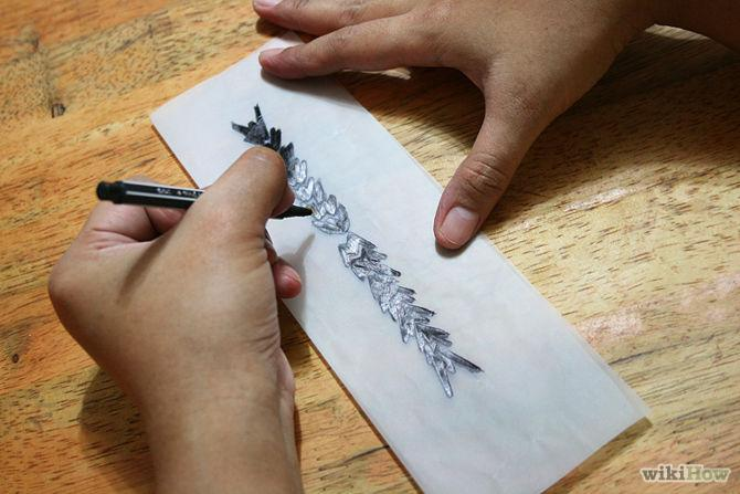 How to create your own temporary tattoo trusper for Temporary tattoo tracing paper
