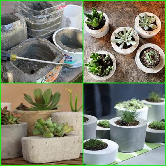 Make Your Own Concrete Planter Trusper