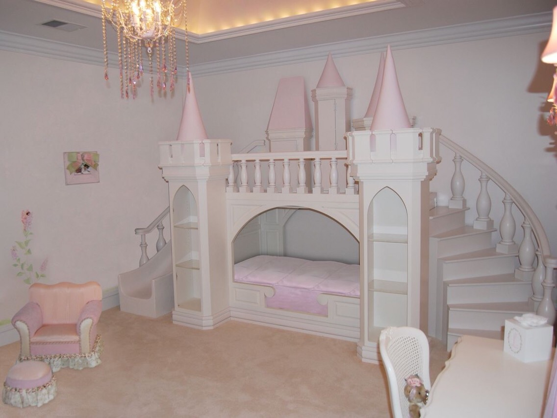 Toddler princess bedroom ideas dream castle bed for very for Princess bedroom