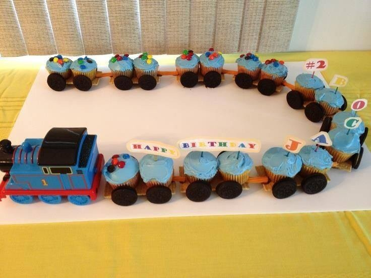 Diy Thomas The Train Cupcakes
