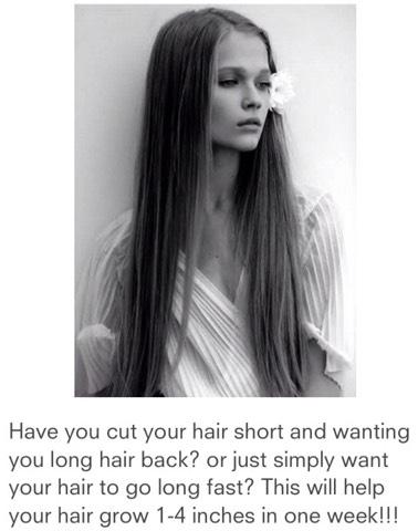 Do this 2 Grow Your Hair:)
