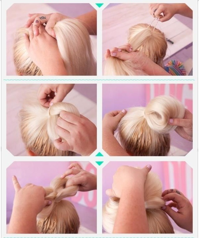 Cute Ways To Do Your Hair When Wet: Cute And Easy Bow Shaped Bun Hair Style!🎀