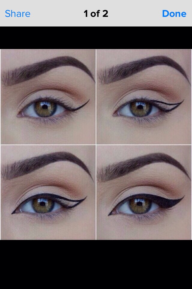 Join told Winged eyeliner step by step
