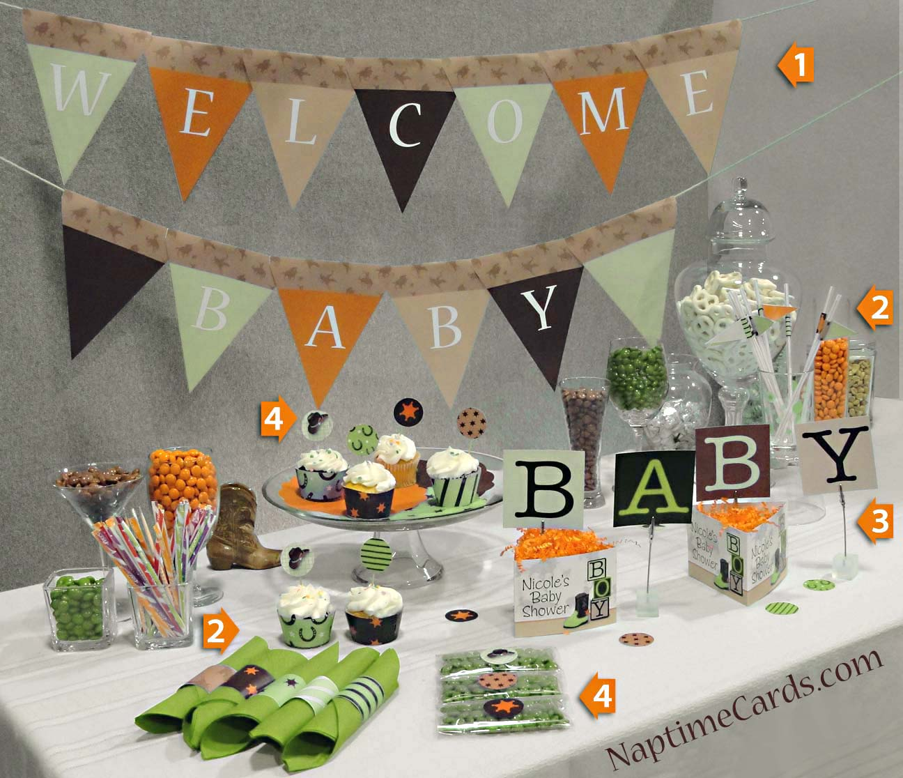 Ideas for baby shower decorations best baby decoration for Baby shower decoration supplies