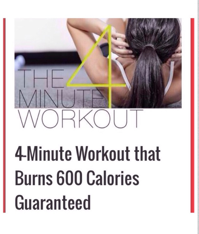 Burn 600 Calories In 4 Minutes! Perfect For Your Busy Lifestyle