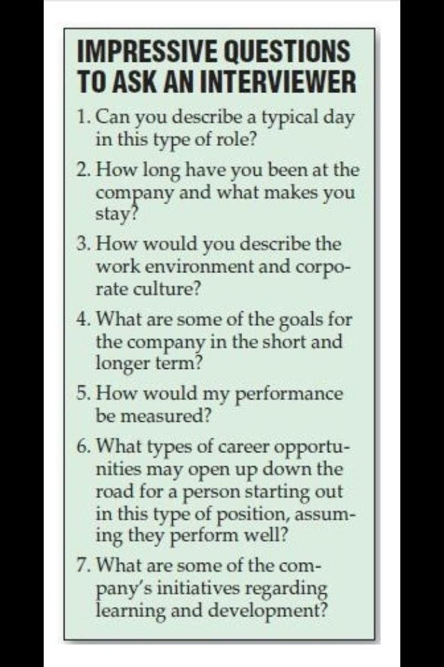 5 smart questions to ask your interviewer