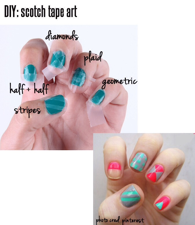 Astounding Diy Nail Art Designs Using Scotch Tape: 15 Amazing Nail Art Hacks Every Girl Should Know!