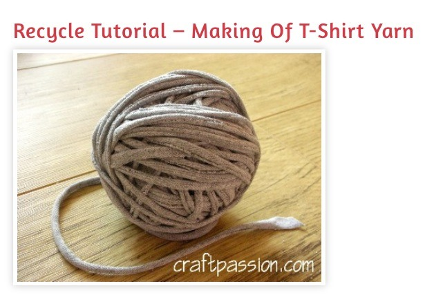 "Recycle Tutorial- "" Making Of T-shirt Yarn"" | Trusper"