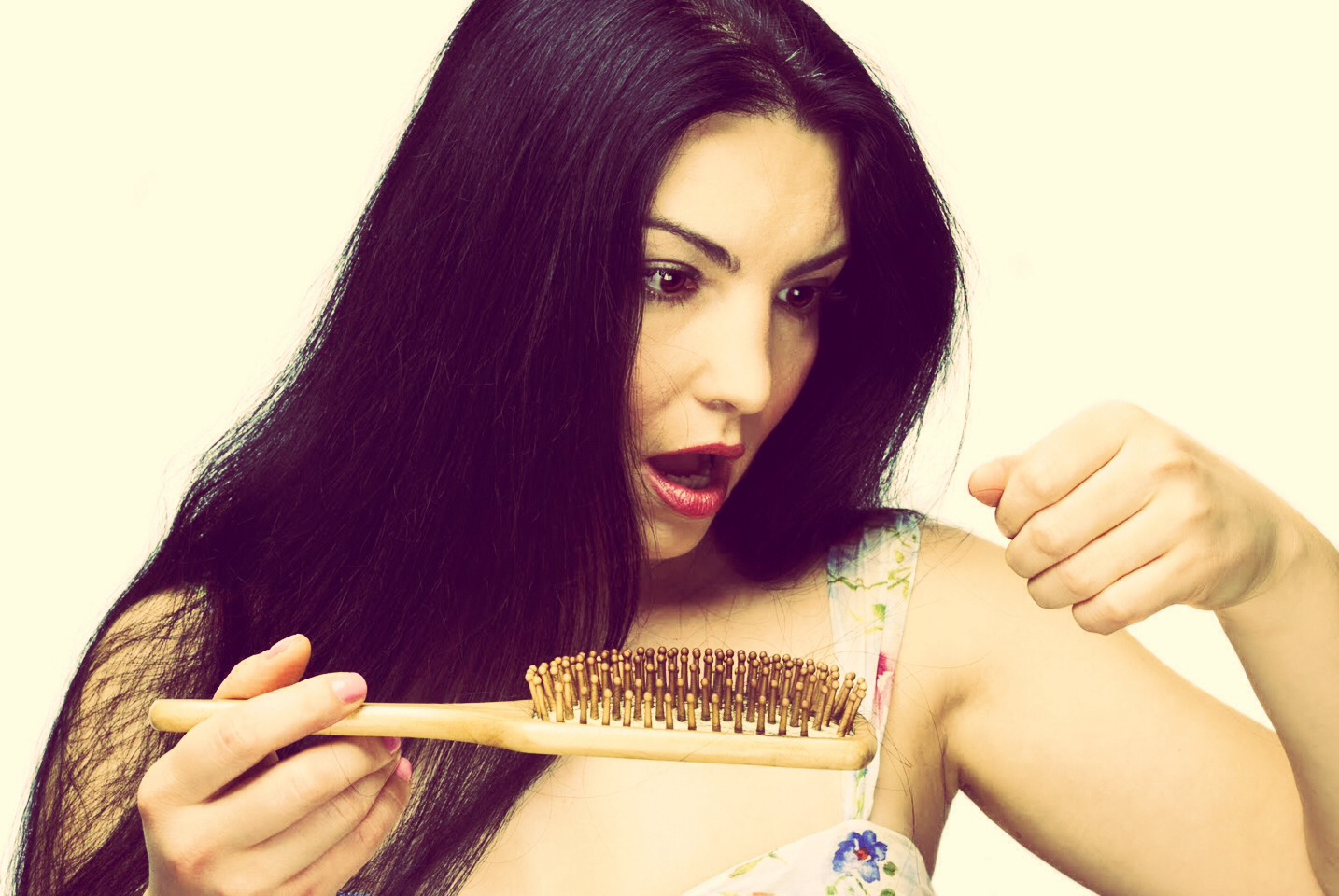Then apply that all onto your shedding hair. Make sure it REALLY saturates the roots!!!
