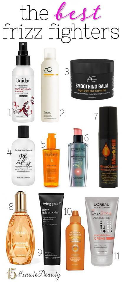 best smoothing anti frizz hair products