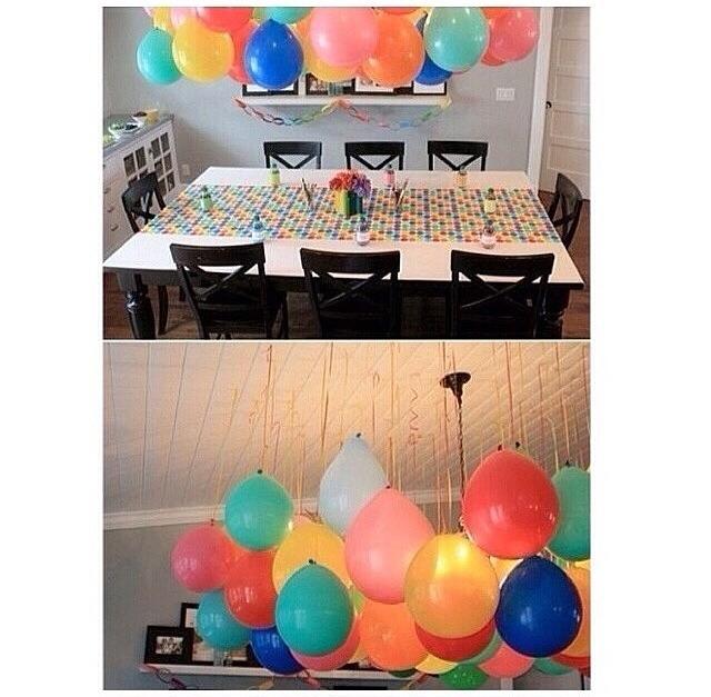 Beautiful balloon decor without helium trusper for Beautiful balloon decorations