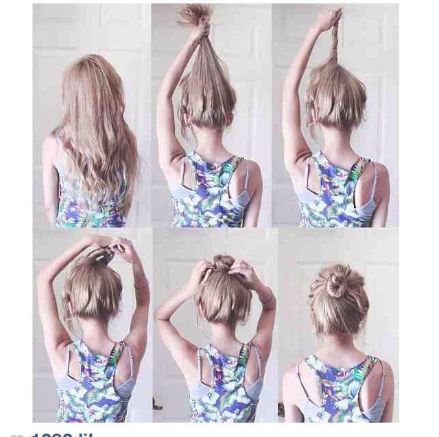 Outstanding Messy Bun Tutorial Info Short Hairstyles Gunalazisus