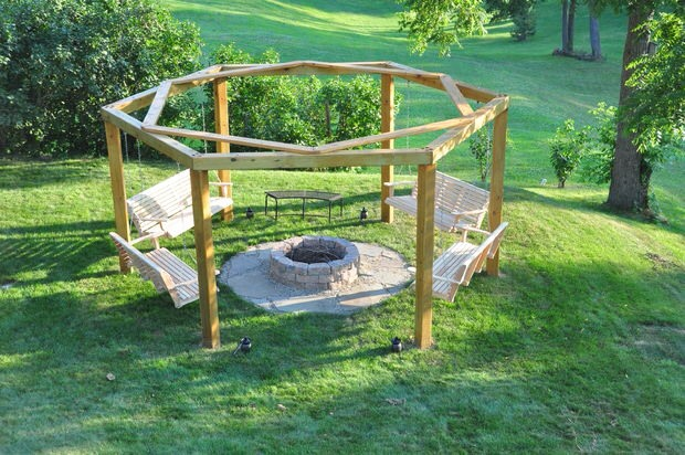 🔥Porch-Swing Fire Pit Tutorial! So Want One Of These!🔥