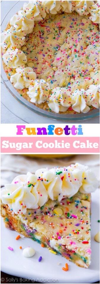 Funfetti Sugar Cookie Cake! #tipit