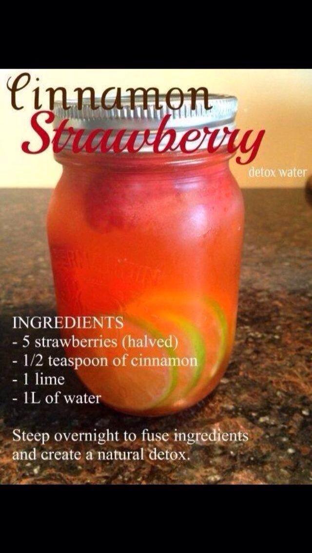 New Detox Strawberry Cinnamon Detox Water! Amazing Detox, Helps Lose Weight Fast!