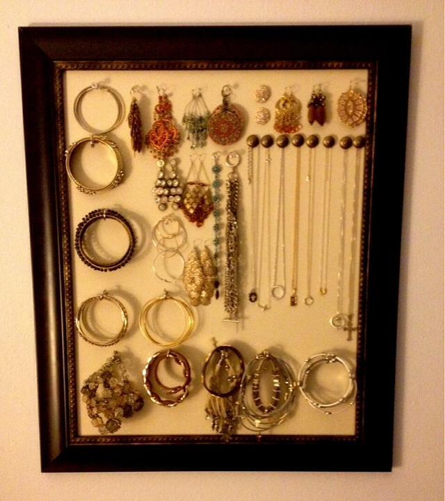 Diy jewelry holder frame trusper for Tj maxx jewelry box