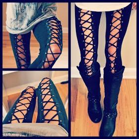 DIY Edgy Grommet Leggings. 😎