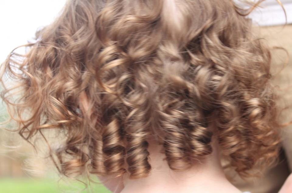 hair dryer or curlers, try braiding your hair after your shower