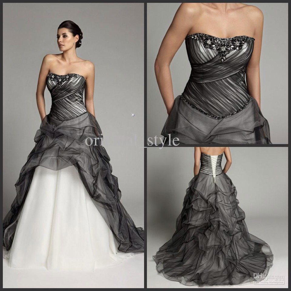 Non Traditional Wedding Dresses With Color: A Touch I Black Wedding Dresses ! For The Non Traditional
