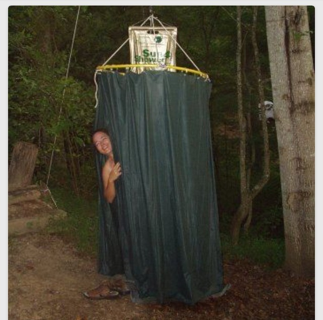 Cool Idea Quot Make A Shower Enclosure For Camping Out Of A Hula Hoop Quot Trusper