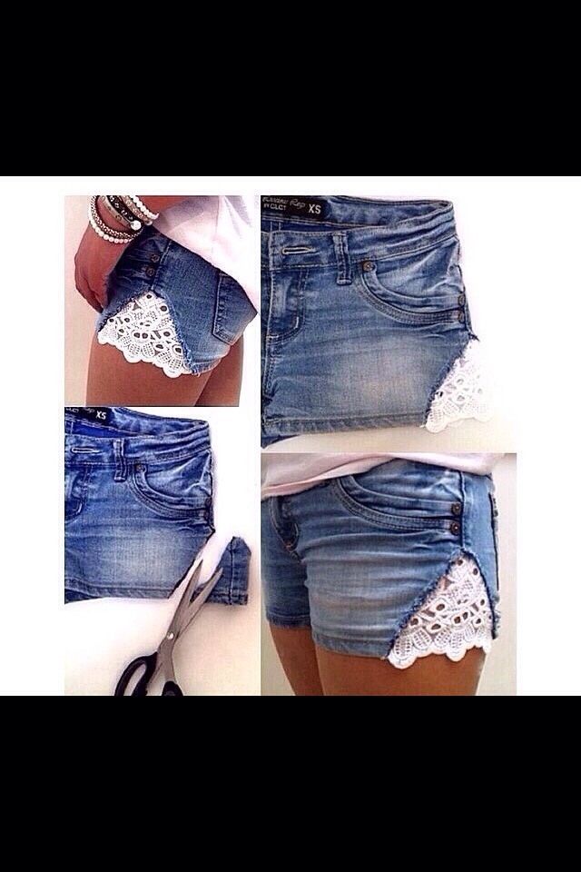 how to make a pair of shorts smaller