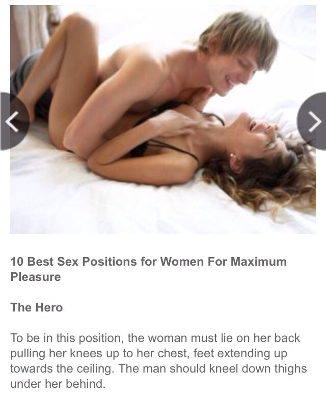 Pleasure to her positions Sex
