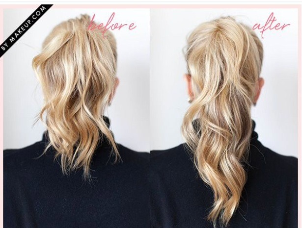 how to make a ponytail look thicker