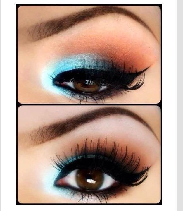 view of eyes makeup - photo #26