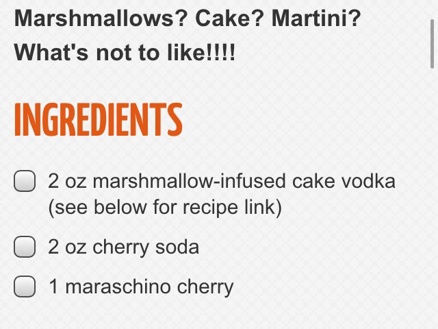 Marshmallow Cake-Tini Cocktail 💖😍 | Trusper