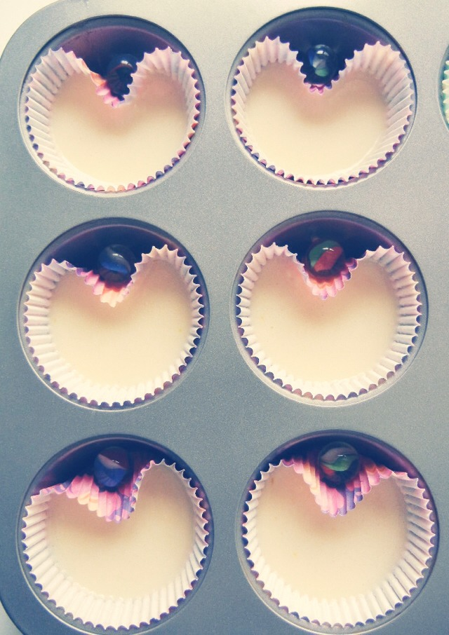 Put marbles in your baking tray to make heart shaped cupcakes.
