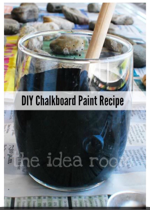 DIY Homemade Chalkboard Paint!!