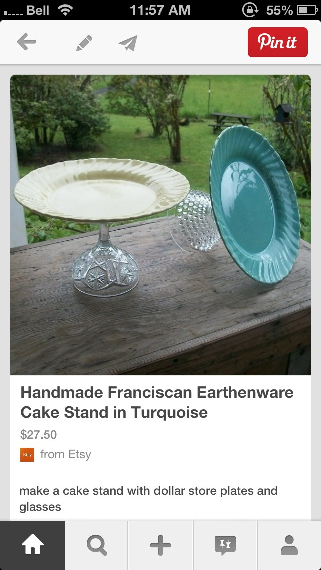 How To Make Your Own Crystal Cake Stand