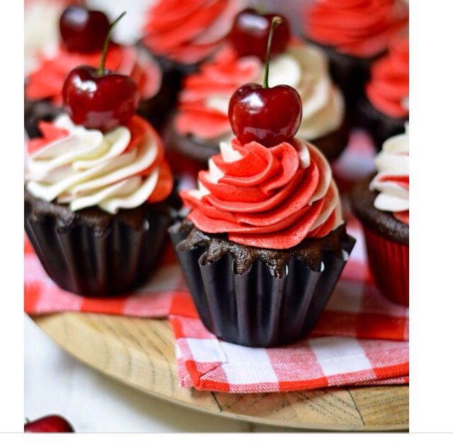Bourbon Black Forest Cupcakes