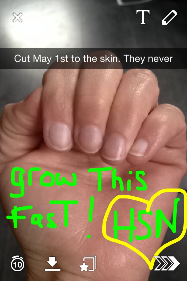how to grow your nails in 1 day