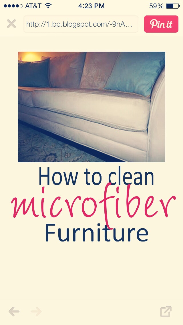 MULTIPLE SOLUTIONS TO CLEAN YOUR MICROFIBER FURNITURE
