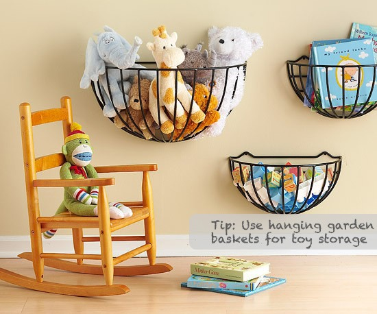 Great Storage Idea For Kid's Room Or Playroom